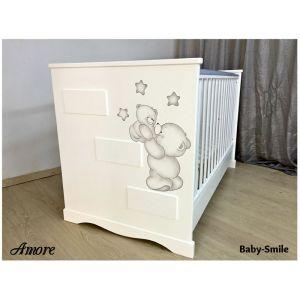 Baby Smile Βρεφικό Κρεβατάκι Amore &  Στρώμα Cocolatex Δώρο