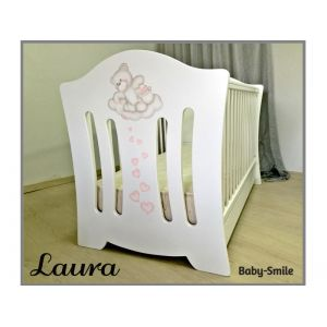 Baby Smile Βρεφικό Κρεβατάκι Laura &  Στρώμα Cocolatex Δώρο