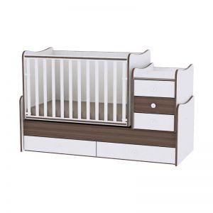 Lorelli Πολυμορφικό Κρεβάτι Maxi Plus White Walnut 10150300026A