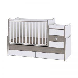 Lorelli Πολυμορφικό Κρεβάτι Maxi Plus White/Coffee 10150300027A