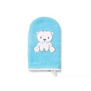 BabyOno Γάντι Πλυσίματος Μωρού από Μπαμπού Μπλέ BN347/02