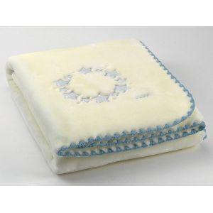 Morven Κουβέρτα Κούνιας Baby Luz D48 Βελουτέ 140x110 Μπλε