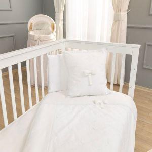 Funna Baby Σετ Σεντόνια Κούνιας Premium Χρώμα White 3τεμ