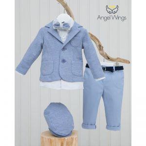 Angel Wings Βαπτιστικά Ρούχα για Αγόρι Σχέδιο 090