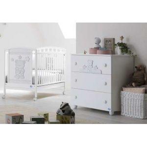 Ολοκληρωμένο Βρεφικό Δωμάτιο Pali  Birba Κρεβάτι με  Σιφονιέρα  COMO & ΔΩΡΟ Στρώμα