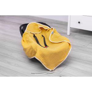 Sensillo Κάλλυμα Για Κάθισμα Αυτοκινήτου και Πάνα Αγκαλιάς Muslin Yellow  903076