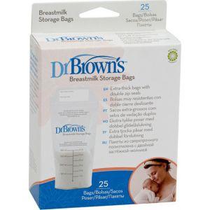 Dr. Brown's Σακουλάκια Αποθήκευσης Μητρικού Γάλακτος 25x180ml  S4005