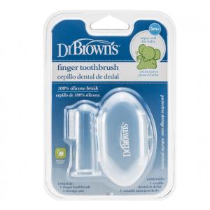 Dr.Brown's  Baby Finger Toothbrush, Δαχτυλάκι Σιλικόνης με Θήκη HG010