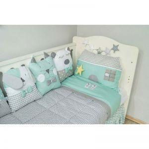 Baby Star set 3τμχ  προίκα κρεβατιού  Sugar Family Mint 7745-2