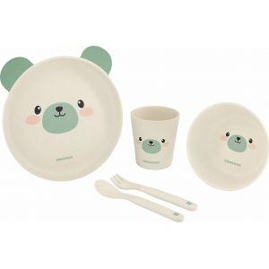 Kikka Boo Σετ Φαγητού Bamboo Bear Mint 6m+  (31302040071)