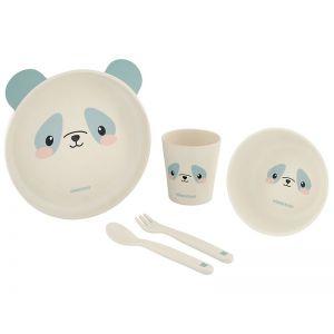 Kikka Boo Σετ Φαγητού Bamboo Panda Blue 6m+  (31302040072)
