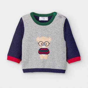 Mayoral Ζέρσεϋ ζακάρ μπουζάκι για vεογέννητο αγόρι blue 10-02340-090