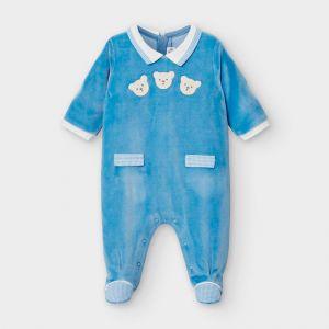Mayoral φορμάκι βελούδο αμπιγιέ για νεογέννητο αγόρι 2767-077