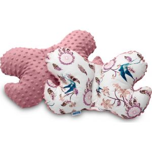 Sensillo Butterfly Pillow μαξιλάρι αυχένα ροζ