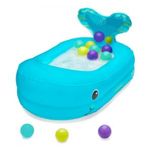 Infantino Tupsy turvy–whale bubble ball inflatable bath tube!