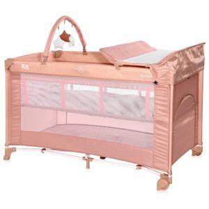 Lorelli  Παρκοκρέβατο  Torino PLUS 2 Layers Misty Rose 10080462122 (ΔΩΡΟ Κουνουπιέρα)
