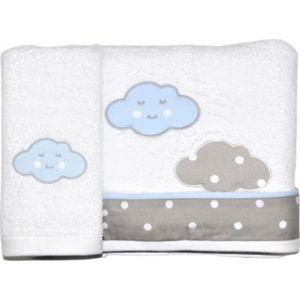 Baby Star Σετ Πετσέτες Λουτρού-Χεριών Σύννεφο Σιέλ