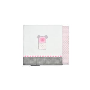 Baby Star Σεντόνια Λίκνου Sugar Family Ροζ