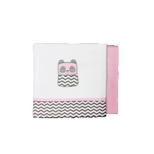 Baby Star Σεντόνια Λίκνου Tiny Friends Ροζ