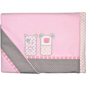 Baby Star Σετ Σεντόνια Κούνιας Sugar Family 105x150cm Ροζ