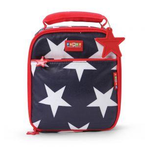 "Penny Scallan Θερμομονωτική τσάντα φαγητού Μεσαία ""Navy Star"" 20X22X8.5cm"