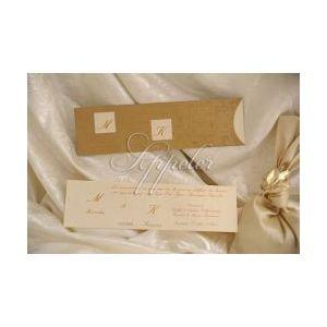 Προσκλητήριο Γάμου Χρυσό με Αρχικά Appeler