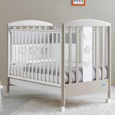 Pali Birillo Βρεφικό Κρεβάτι White/Warm Grey 025520
