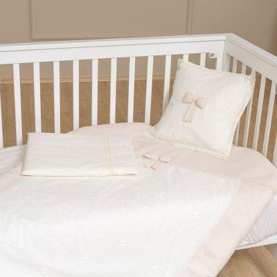 Funna Baby Σετ Σεντόνια Κούνιας Premium Χρώμα Cream 3τεμ
